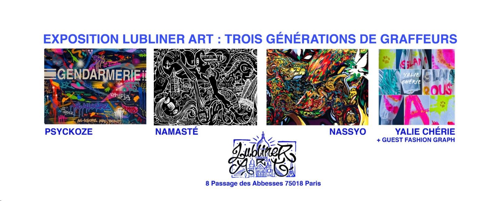 Exposition permanente à la galerie Lubliner ART : Trois générations de graffeurs 1
